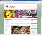 The Tudor Sweets website, designed, built, hosted and supported by CDS Web Design